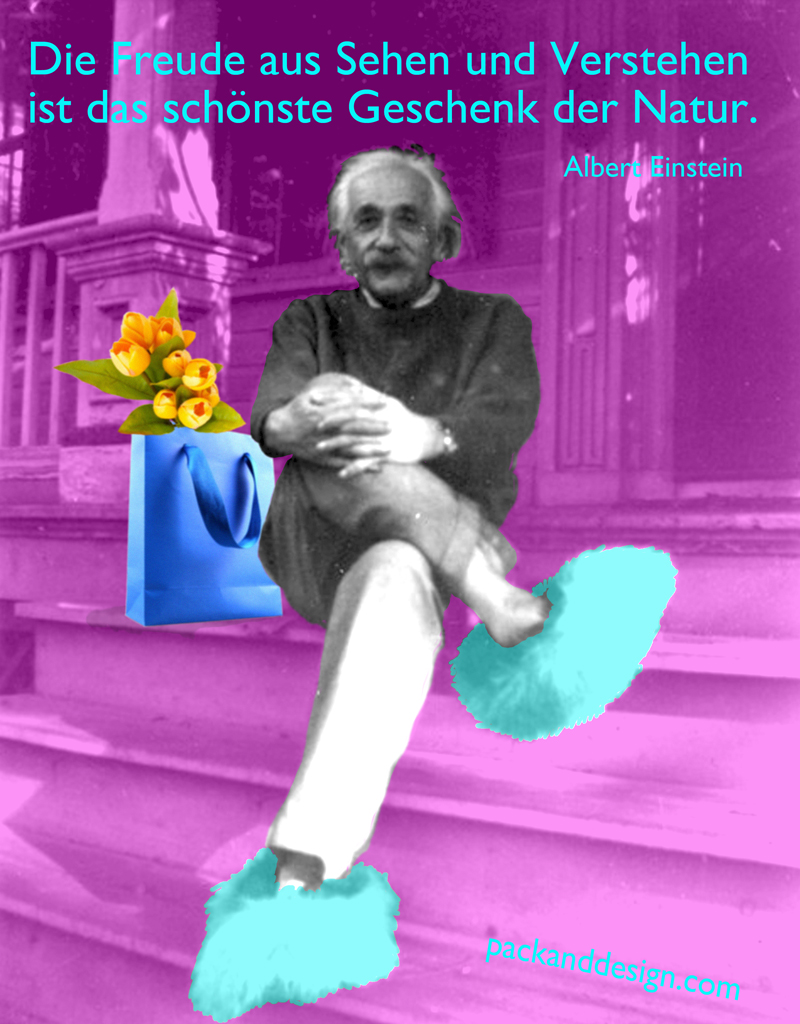 Quotagraphic in German Albert Einstein quote for Facebook